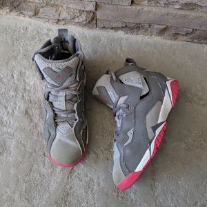 Air Jordan True TD Flight Pink Grey Shoes 1Y